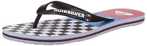Quiksilver Molokai Og Scal M Sndl Xkbr Herren Zehentrenner Mehrfarbig - Multicolore (Black/Blue/Red)