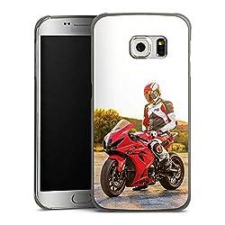DeinDesign Hülle kompatibel mit Samsung Galaxy S6 Edge Handyhülle Case Meddes Motorrad Youtuber