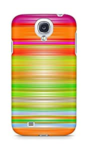 AMEZ designer printed 3d premium high quality back case cover for Samsung Galaxy S4 (abstract paint lines)