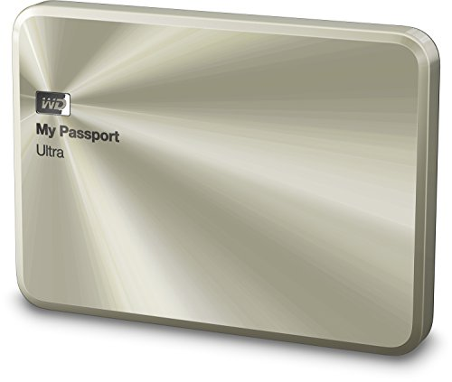WD My Passport ULTRA METAL Edition externe Festplatte 2TB (6,3 cm (2,5 Zoll), 5400rpm, 8MB Cache, SATA, USB 3.0) gold