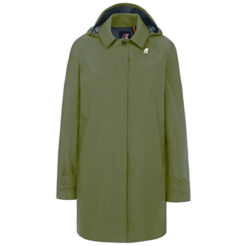 K-Way - Mantel NOEMIE LIGHT COTTON 3 LAYERS für frau, atmungsaktives gewebe - Green Olive - (Grüne Baby Kostüm Oliven)