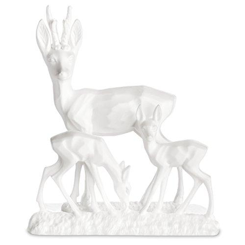 koziol Deko Objekt Kitzy Family XS, thermoplastischer Kunststoff, weiß, 2,2 x 5,6 x 6,4 cm - Virgin Kunststoff Natur