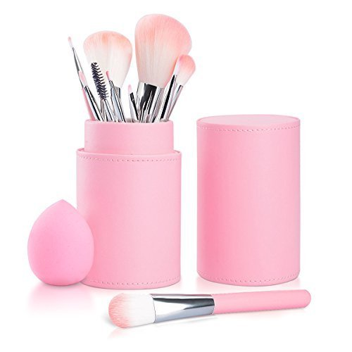Make Up Pinselset, Fypo Pinsel Set Kosmetikpinsel Brushes mit Elegantem Reiseetui aus PU-Leder 10...