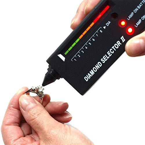 LeeMon Diamantauswahl-Tester, Tragbar Hochpräzise Professionelle Diamant Test Diamantprüfer v2 Diamant Prüfgerät Tester Schmuck Selector II (Silber)