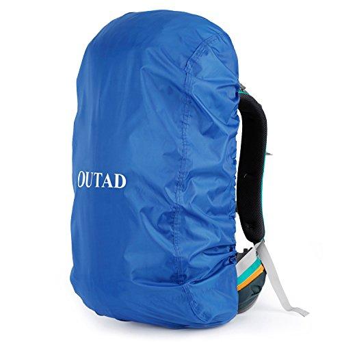 OUTAD Qualitäts Camping Wandern Rucksack Wasserdichte Regenschutz (Blau, M)
