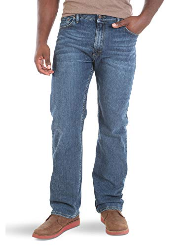 Wrangler Herren Big & Tall Classic Comfort-Waist Jeans, Blau - Blue Ocean, 38W / 36L - Tall Wrangler Men Jeans