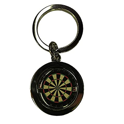 Handmade Silver Plated - Dart Darts Board Inspired Keyring - Boxed Gift