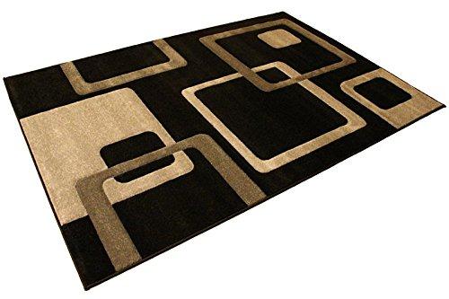 Rugs House Glamour 500-Schwarz Grau Darkgrey -
