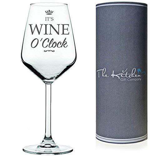 Il s'agit de vin O'Clock Verre à vin rouge/blanc Funny présenté dans un tube Cadeau