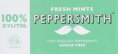 Peppersmith 100% Xylitol Mints Pfefferminze 15 g, (12 x 15 g), 1er Pack (1 x 0.18 kg) - Xylitol Pfefferminz