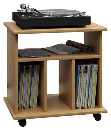 VCM Mobilier pour Disque Vinyle Retal, Hêtre, 59 x 60 x 45 cm