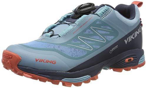 viking Unisex-Erwachsene Anaconda Light BOA GTX Trekking- & Wanderhalbschuhe, Bluegreen/Navy, 39 EU