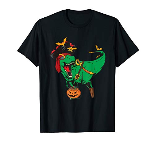 Dinosaur T-Rex Pirate T shirt Jolly Roger Halloween Skull (2019 Halloween Cruise)