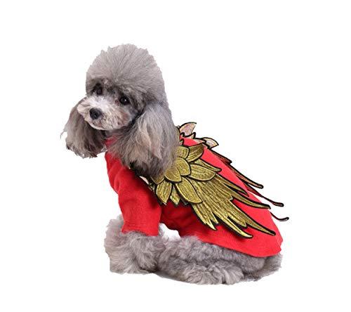 Meiqipetbaby® Hundekostüm, Motiv: Engelsflügel, Weihnachten, Hollaween Hundemantel, Flügel, für Katzen und Welpen (Hollaween Kostüm Für)