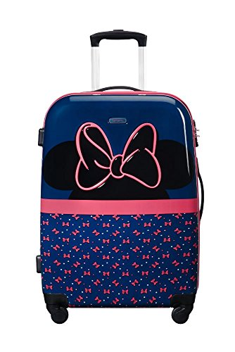 SAMSONITE Disney Ultimate 2.0 - Spinner 65/24 3.3 KG Valigia per bambini, 65 cm, 55.5 liters, Multicolore (Minnie Neon)