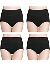wirarpa Ladies Knickers Cotton Full Briefs High Waisted Underwear Panties for Women Multipack