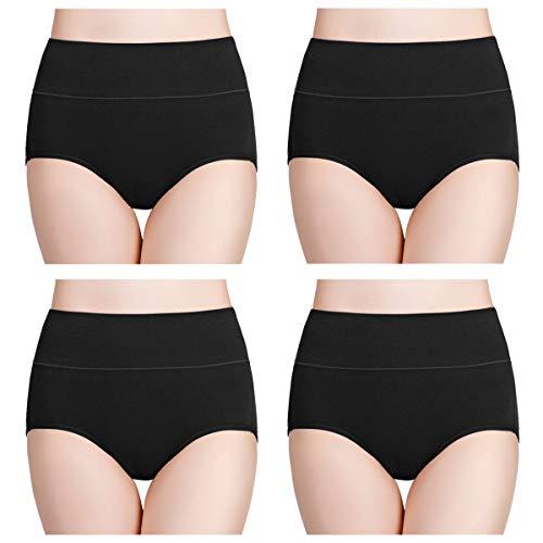 wirarpa Culotte Femme Coton Taille Haute sous-vêtements Stretch Slip Confort Shortys Femme avec...
