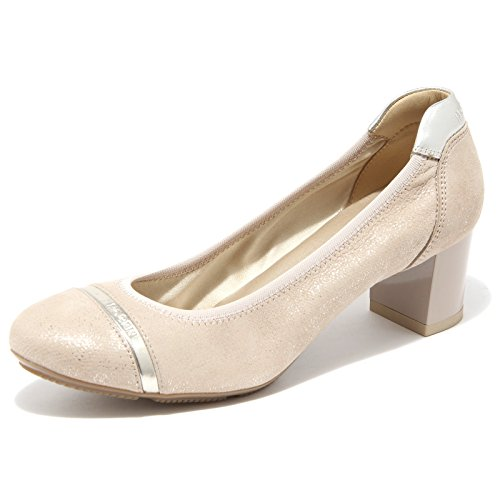 7054F decollete HOGAN FASCETTA H 228 scarpa donna shoes women cipria/oro