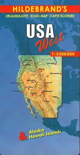 Hildebrand's Urlaubskarten, Nr.47, Westliche USA (Hildebrand's USA maps) -