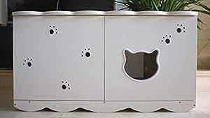 CatS Katzentoilette I Meuble de toilette pour chat Design No 15