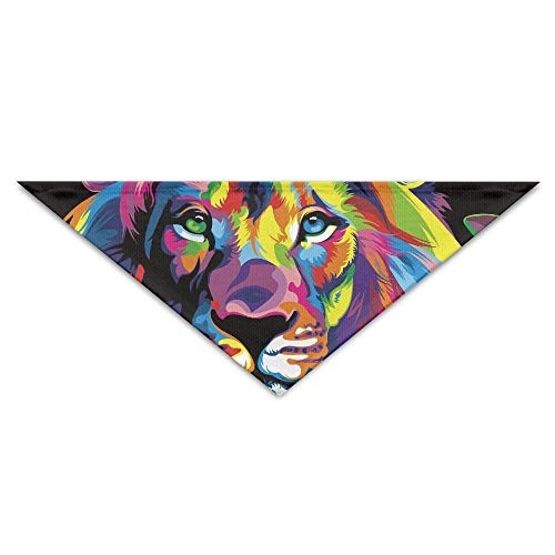 Lion Head Kostüm Dog - Rghkjlp Colorful Lion Head Pet Bandana Triangle Dog Cat Neckerchief Bibs Scarfs Accessories for Pet Cats and Baby Puppies