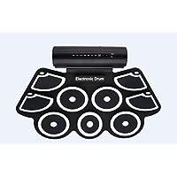 Portable Kit 9 drum pad elettronico con bastoni e Pedali - Drum Konix completa silicone Roll-Up Style elettrico Set da Express Panda