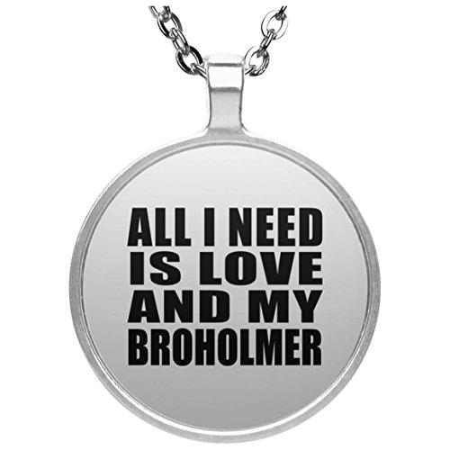 nd My Broholmer - Round Necklace Halskette Kreis Versilberter Anhänger - Geschenk zum Geburtstag Jahrestag Muttertag Vatertag Ostern ()