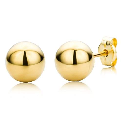 Miore Ohrringe Damen Gelbgold 18 Karat / 750 Gold Ohrstecker Kugel