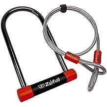 ZEFAL - 26809 : Candado antirrobo u acero 13 mm + cable 115x230 mm
