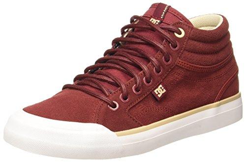 DC Shoes Evan Hi Se, Sneakers Basses Femme Rouge - Burgundy