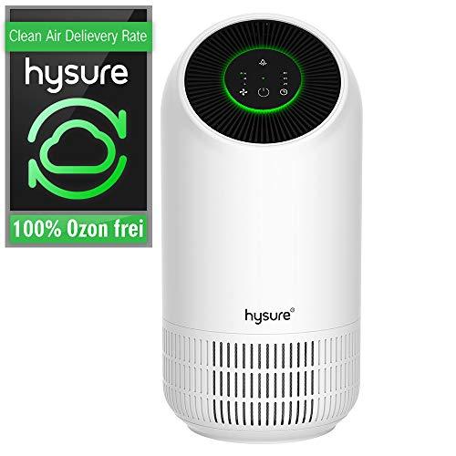 Luftreiniger Air Purifier mit HEPA-Kombifilter und Aktivkohlefilter 3-Stufen-Filterung für 99,97% Timing LED Nachtlicht, Luftreinigungsgerät perfekt für Allergiker und Raucher