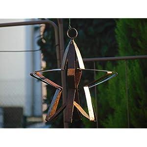 Edelrost Stern mit Öse zum Aufhängen Weihnachten