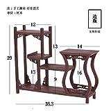 GWDecor Antik Redwood Regal Chinesisch Traditionelle Handmade Geschnitzt Wenge Möbel Creative Home Retro Dekor Schmuck Storage Form