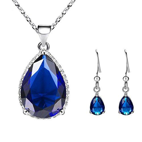 Sasavie-Juego joyas Mujer-Collar Pendientes-Cristal