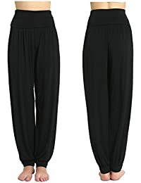 Jasmine Silk Harem Modal Lounge Pants Lounge Leggings Black