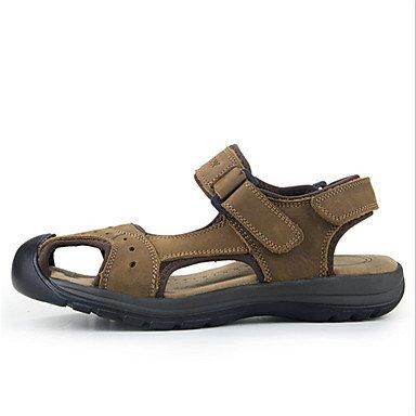 Los hombres sandalias de cuero verano otoño casual talón plano otros Marrón Verde Camel Otros US8.5-9 / EU41 / UK7.5-8 / CN42