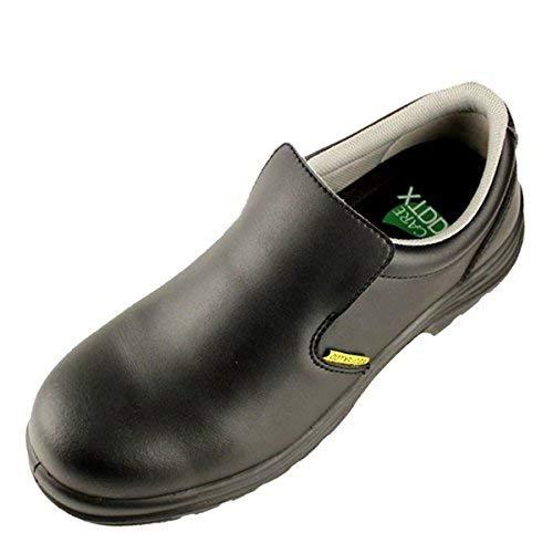 DDTX Zapatos de Seguridad Hombre Antideslizante S2 SRC Calzado de Trabajo Puntera de Composite Antiestáticos Cómodo Negro Talla 43
