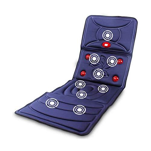 XF Elektrische Massage-Matratze, Multifunktions-Haus-Vibrationsmassage Beheizte Massage-Decken-Stuhlmatte (Color : Blue)