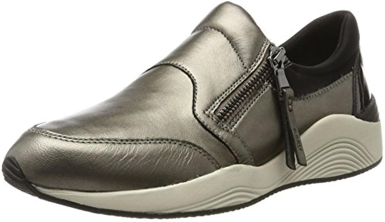 Geox Unisex-Erwachsene J Kalispera Girl F Hohe Sneaker Grau (Graphite) 41 EU