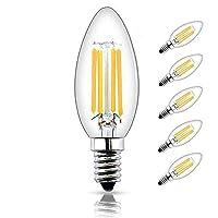 Bonlux Lampadina Filamento a LED Dimmerabile 4W Bianco Caldo 5pz  Caratteristiche tecniche:  Materiale: vetro  Dimensione: ø36 x H98mm  Tensione: 200-240V  Potenza: 4W  Lumen: 400lm  Incandescenza equivalente: 40W  Temperaturatore di colore: ...