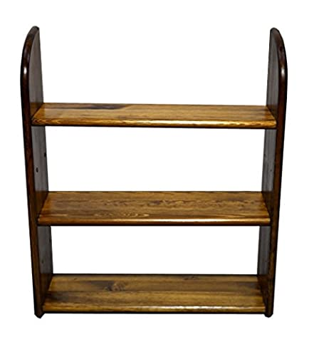 Solid Pine Bookcase Wall Shelf Rack Pine H 70 x B 90 x T 20 cm (Oak)