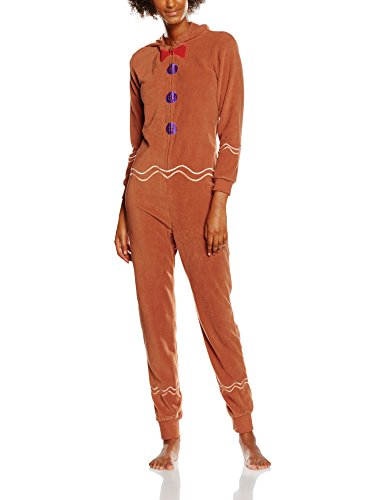 - 41V55Ba9yvL - The Christmas Workshop Women's Gingerbread Man Onesies