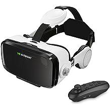ELEGIANT 3D VR lunettes de Réalité Virtuelle Casque équipé de télécommande et écouteurs Pour 3D films Compatible avec 4.0-6.0'' Compatible avec Samsung Galaxy Mega 2 / Galaxy Note 4 / Galaxy Note 3 / Galaxy S6 Bord / Galaxy S6 / iPhone 6 / iPhone 6 Plus / LG G3 / SONY Experia T2 Ultra / Xperia Z3 + / MOTO Nexus 6 / HTC One Max / Desire 816 / Un M9 / ASUS Zenfone 2