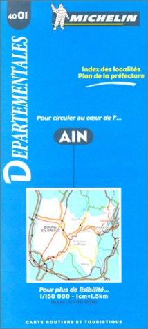 Carte routière : Ain, 4001, 1/150000