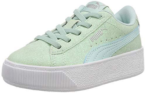 PUMA Mädchen Vikky Platform Glitz AC PS Sneaker, Blau Fair Aqua, 28 EU