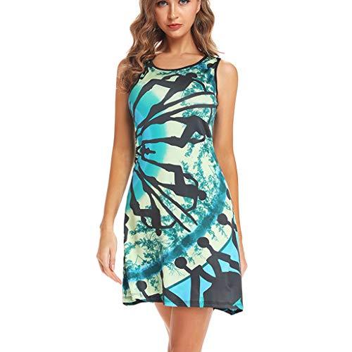 XuxMim Damen Elegant Sommer Kleid Spitzen 3/4 Arm Wickelkleid Cocktailkleid Blau Gr.S-XXL(Grün,XX-Large)