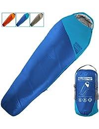 Saco de dormir para mamá con bolsa de compresión, portátil y ligero, para acampadas