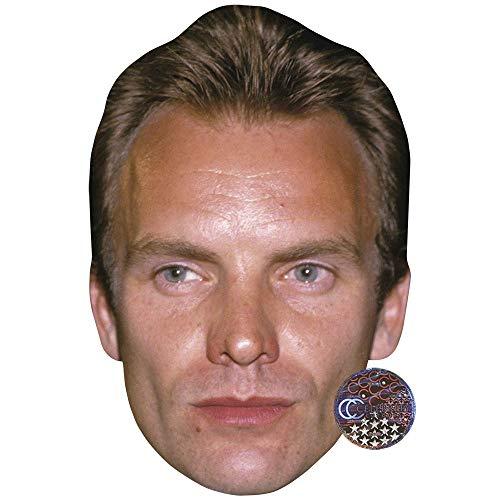 Celebrity Cutouts Sting (90s) Maske aus Karton