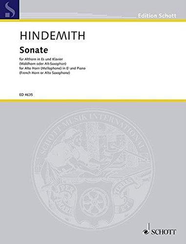 Sonate (1943): Althorn in Es (Waldhorn oder Alt-Saxophon) und Klavier. (Edition Schott)