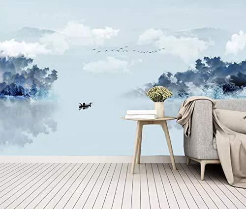 Dreidimensionale einfache moderne TV Hintergrundbild Wohnzimmer neue chinesische Landschaft 3D Wallpaper Film und Fernsehen Wallpaper Wandbilder, 250 × 175 cm